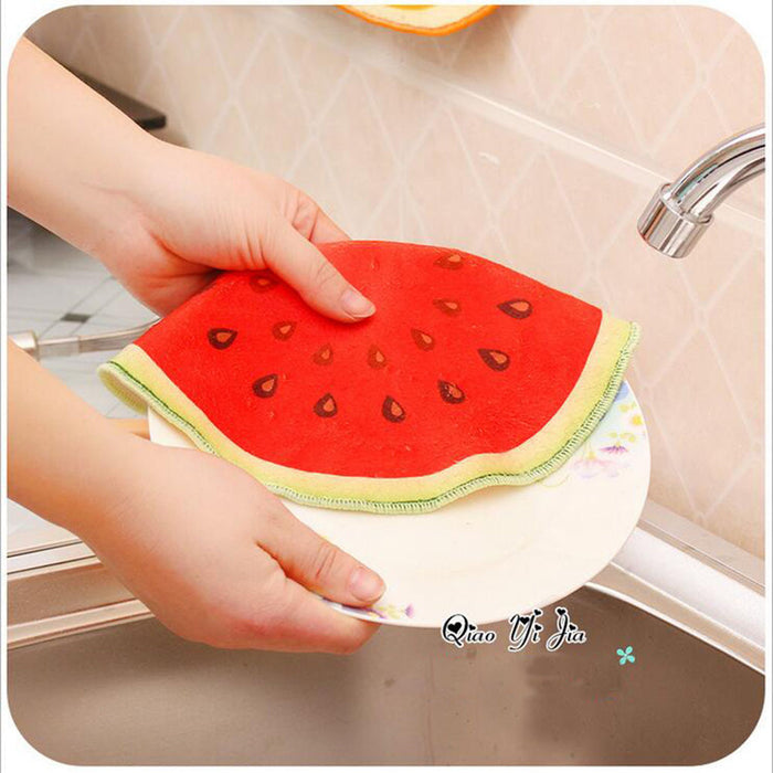 4 Pieces Microfiber Kitchen Towel Printed Hand Towel