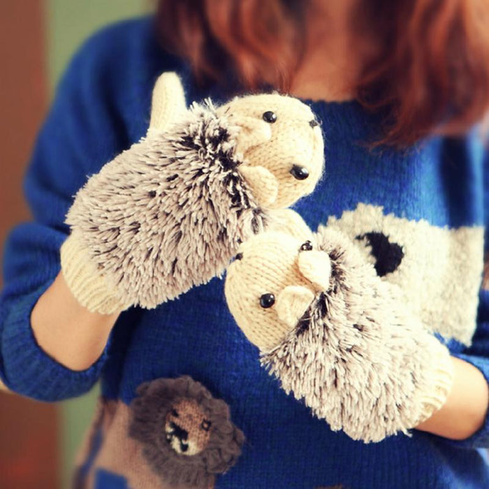 Cute Hedgehog Gloves