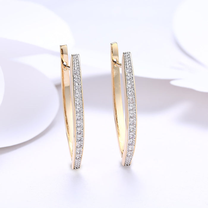 Boat Shape Stud Earrings - Toyzor.com
