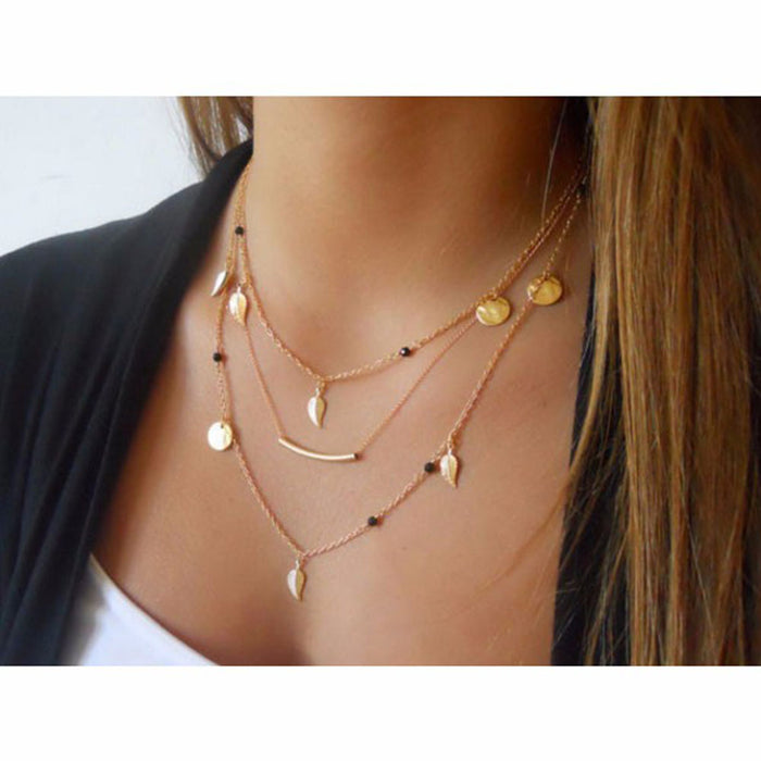 Bohemian Multi-layer Leaf Necklace - Toyzor.com