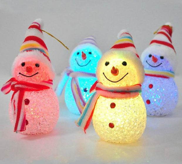 Light Up Glowing Snowy Snowman Warm White LED Christmas Decoration