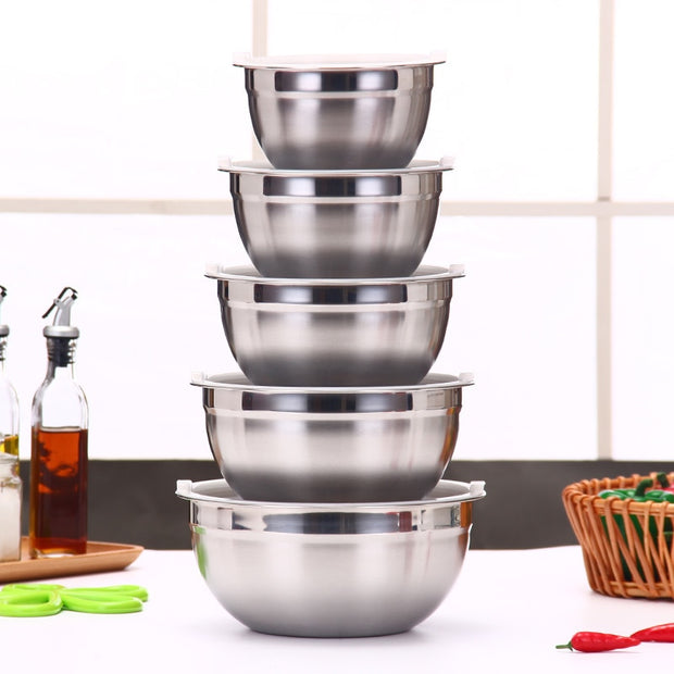 Mixing Bowl Stainless Steel Cake Bread Salad Mixer