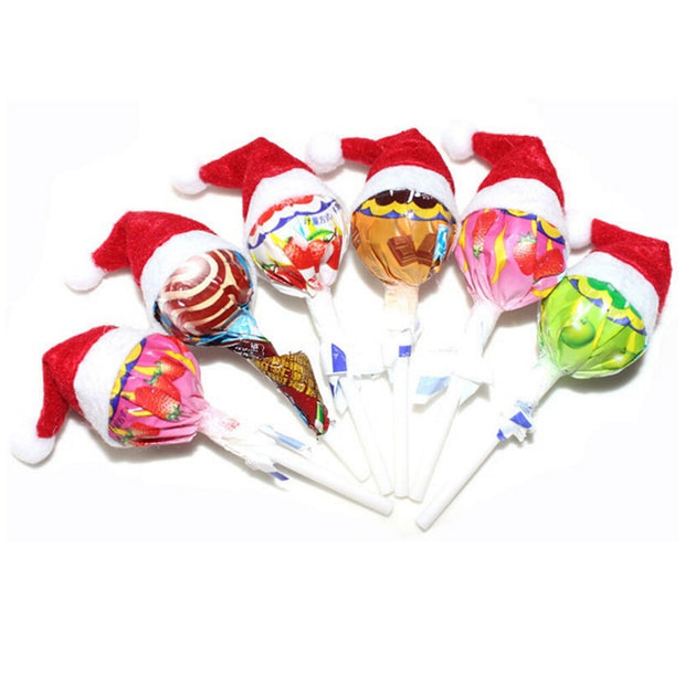 Mini Santa Claus Hat Christmas Holiday Lollipop Top Topper