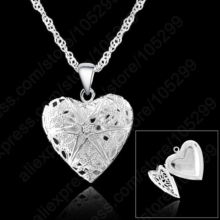Sterling Silver  Heart Pendant Necklace
