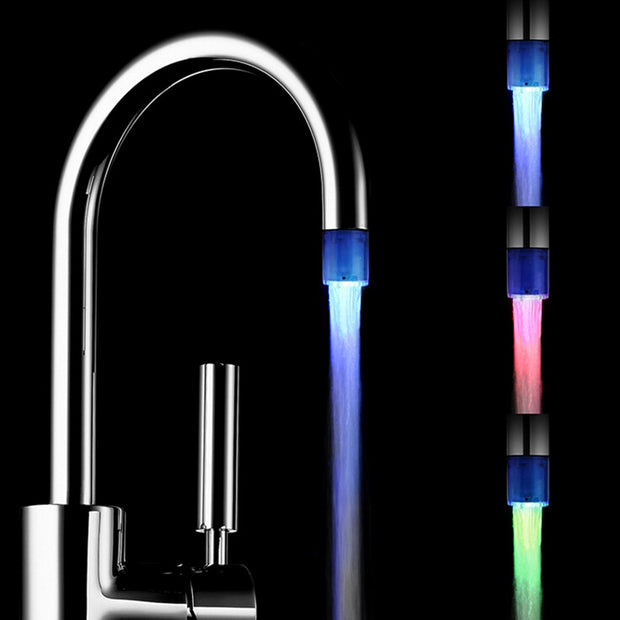 LED Water Faucet Stream Light 7 Colors Changing Glow Shower Tap Head