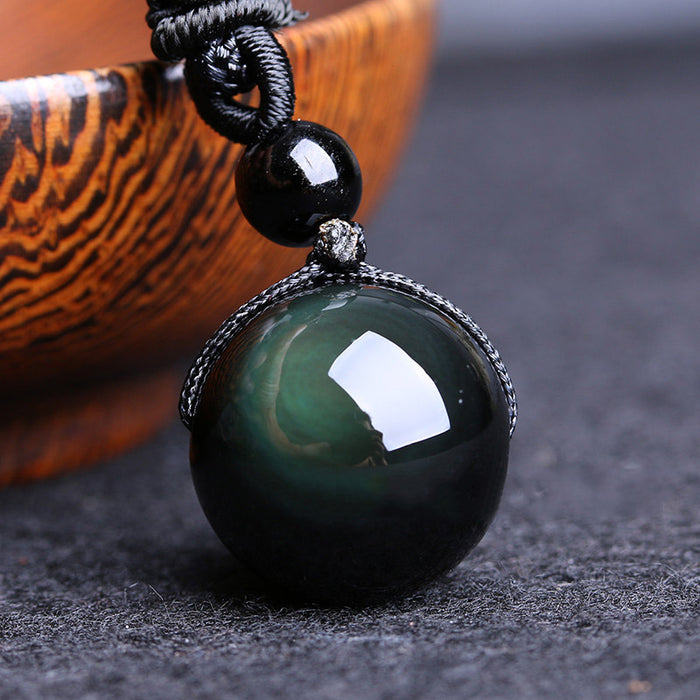Obsidian Lucky Stone Necklace