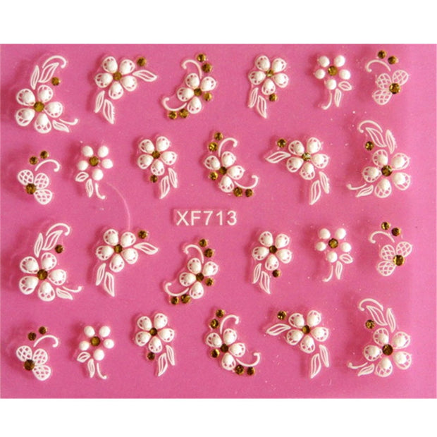 1PC Lovely 3D flower design Nails Art Sticker - Toyzor.com