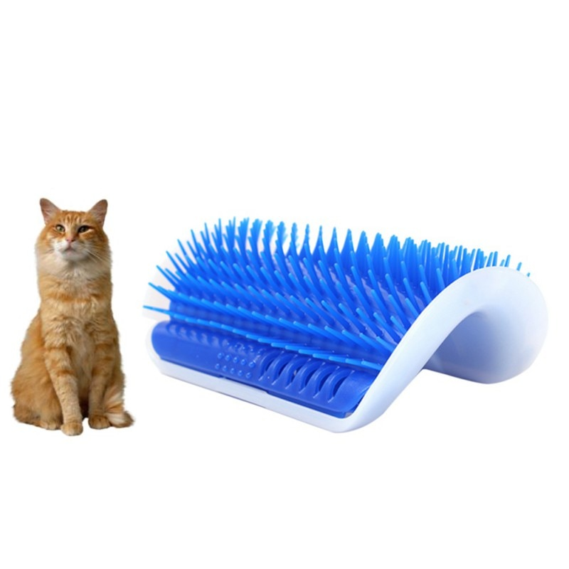 Pet Massage Device Self Groomer With Catnip Toy Brush Comb