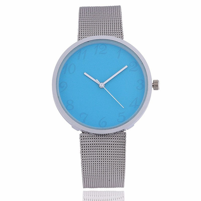 Luxury silver Mesh Wristwatch