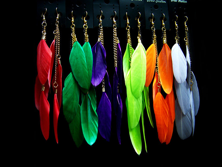 Fluorescent Color Exotic Dangle Earrings