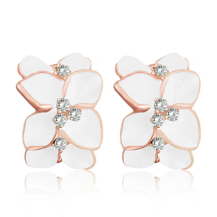 Austrian Crystal Flower Earrings - Toyzor.com