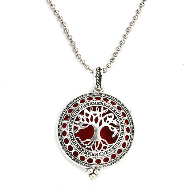 Tree Of Life  Magnetic Aromatherapy  Essential Oil Scent Necklace
