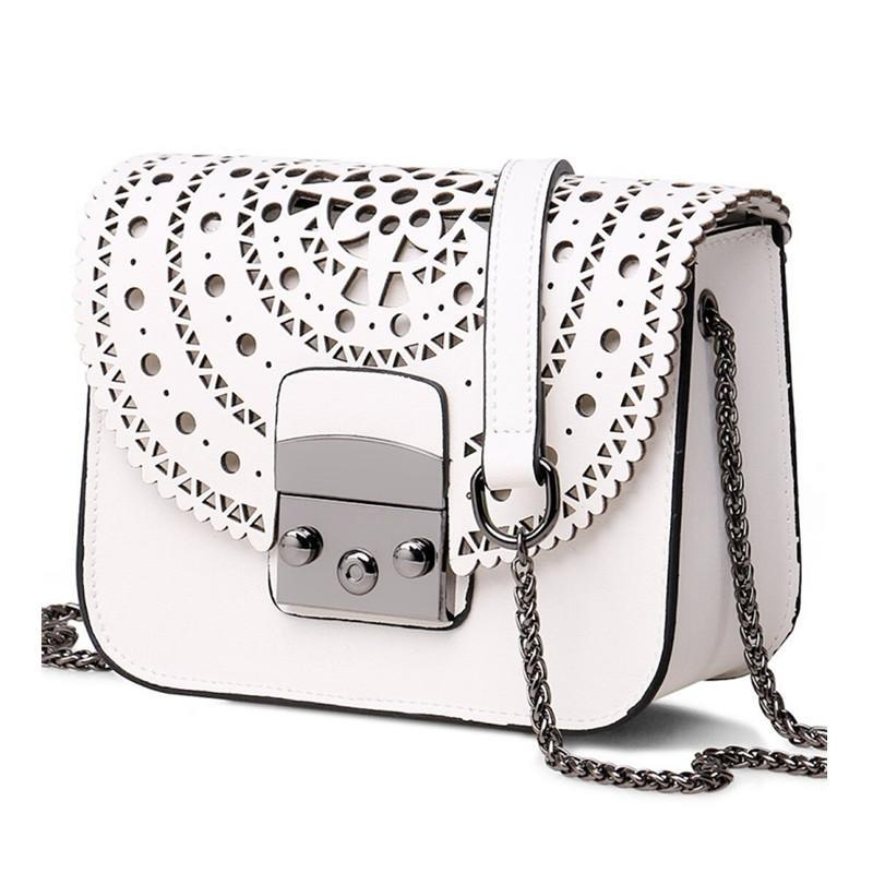 Hollow Out Leather Women Crossbody Bag