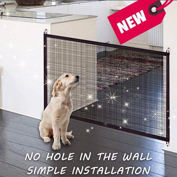 Pet barrier Magic Gate Portable Folding Safe Guard Install Anywhere