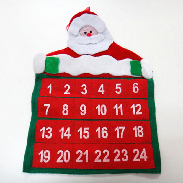 Calendar Advent Countdown Christmas Ornament Hanging Banner Pendant Decorations