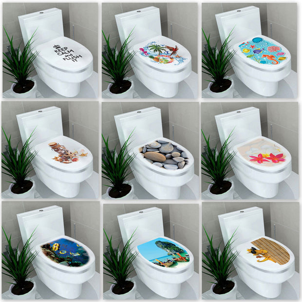 Multi-style Bathroom Stickers On The Toilet Muurstickers Waterproof