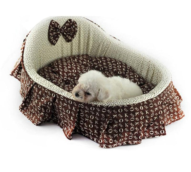 Pet Kennel Shaker Design Princess Washable Thicken Warm Bed
