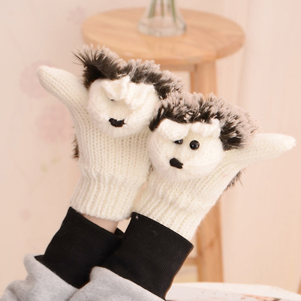 Girls Novelty Cartoon Winter Gloves