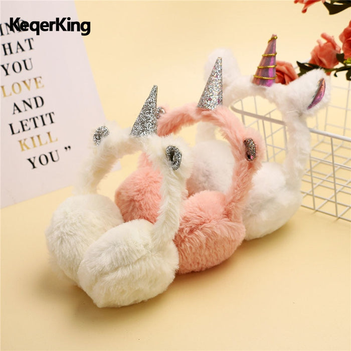 Plush unicorn Earmuffs