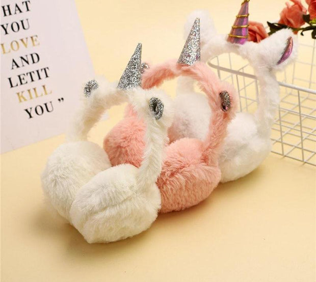 High Quality Winter Lovely Thicken Plush Unicorn Earmuffs