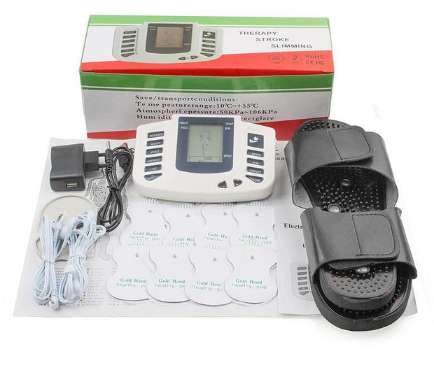 Electrical Muscle Stimulator Body Relax Muscle Massager Slipper + 8 Pads