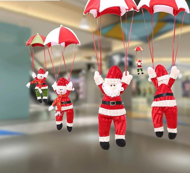 Parachute Santa Claus Snowman New Year Christmas Tree Hanging Ornaments