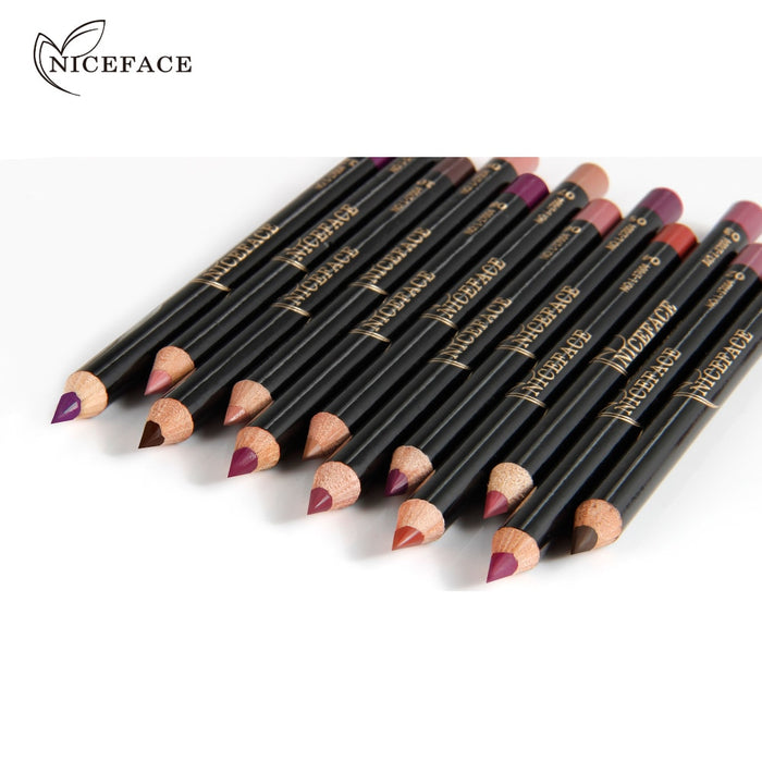 12 Color Red Series Waterproof Contour Line Nude lip - Toyzor.com