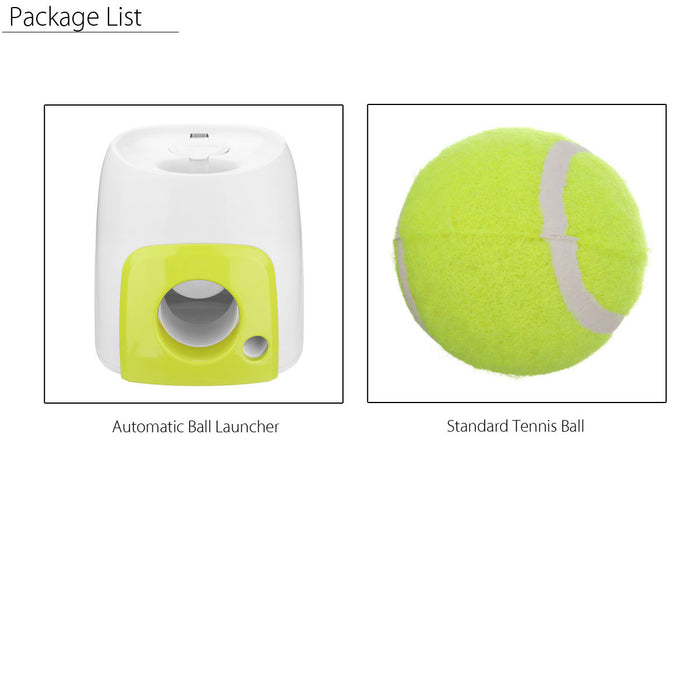 Automatic Interactive Ball Launcher Tennis Ball Rolls Out Machine Launching Fetching Balls Dog Training Tool