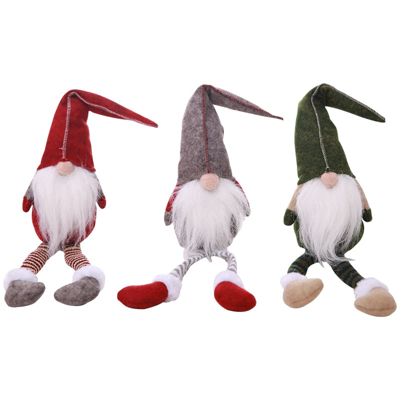 Nordic Plush Dwarf Ornaments Christmas Present Santa Claus Dolls Figurine