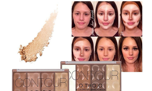 4 Colors Concealer Palette Face Makeup Base Contouring Foundation Powder