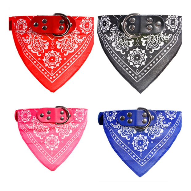 Pet Scarf Leather Collar