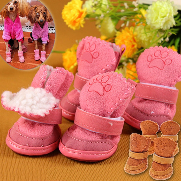 Super Warm Winter Anti Slip Cotton Pet Shoes