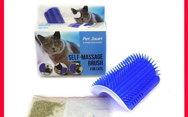 Cute Fiddle Artifact Blue Furniture and Scratch play Toy for Cats Brush Comb