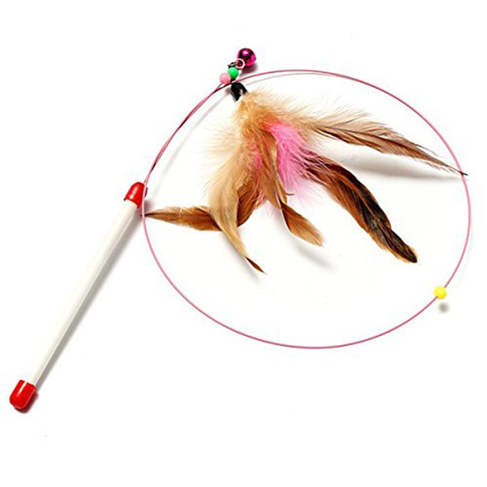 Feather Teaser Wand Toy for Cats Interactive