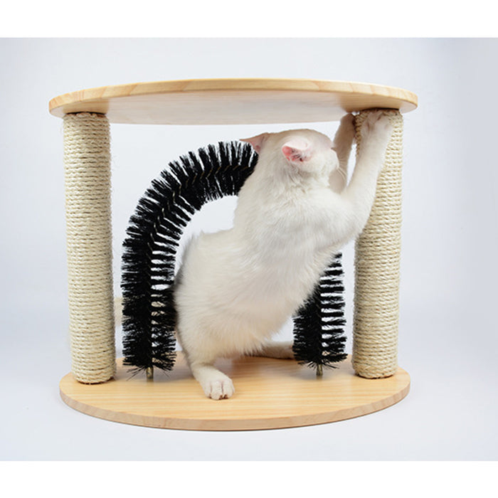 Arch Self Groomer Massager Pet Groom Toy Fur Grooming Cat Scratcher
