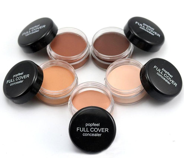 Round Full Cover Concealer Natural Makeup Cream Foundation Contour