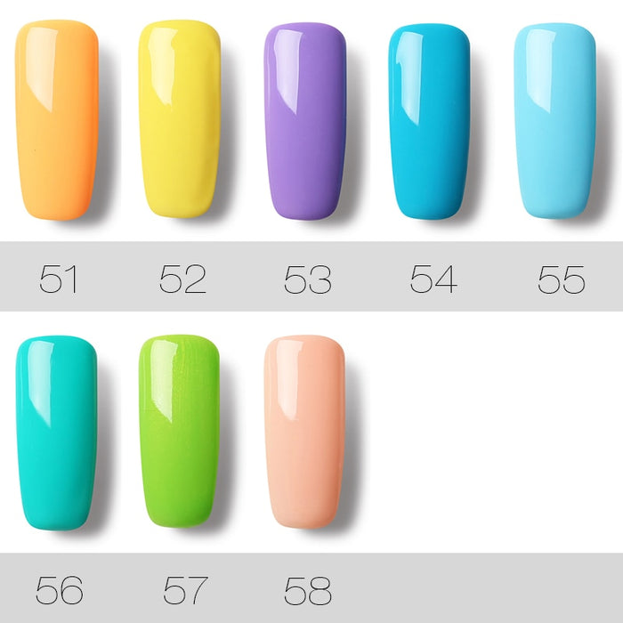 7ML Gel Nail Polish Pure Color 31-58 - Toyzor.com