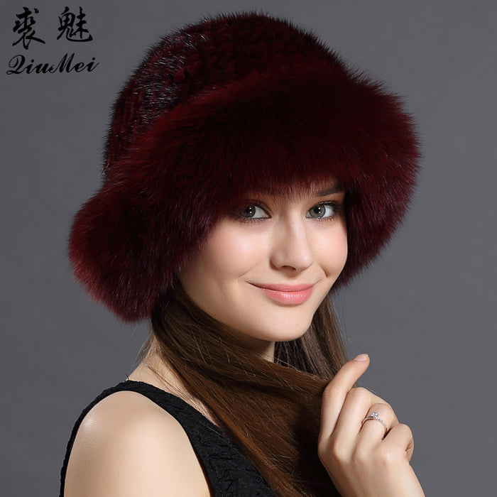 Real Women's Fur Winter Hat