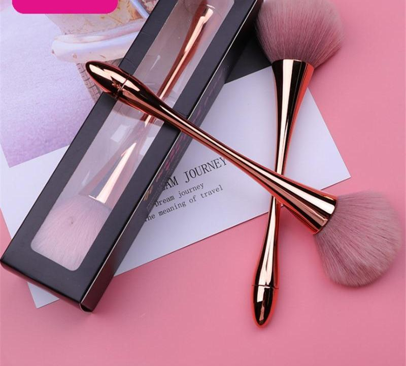 Rosegold Powder Makeup Dense Soft Big Blush Brush with Box