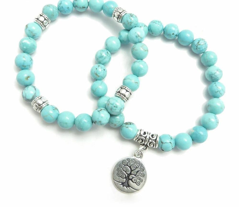 Tree of Life Yoga Mala Bracelet