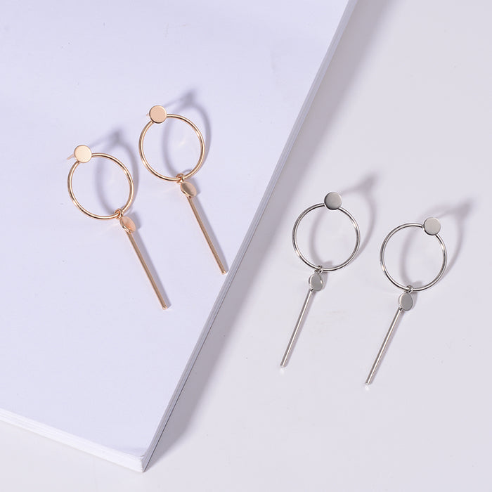 Round Stick Charm Earrings