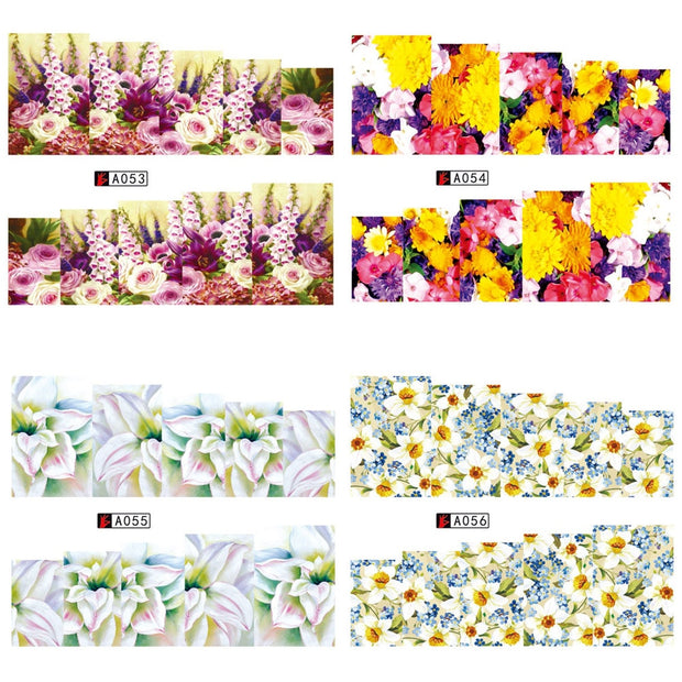 1 PC Rose Flower Nail Art Stickers - Toyzor.com