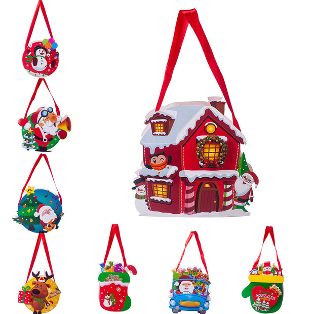 Gift Bag  Merry Christmas Candy Pocket