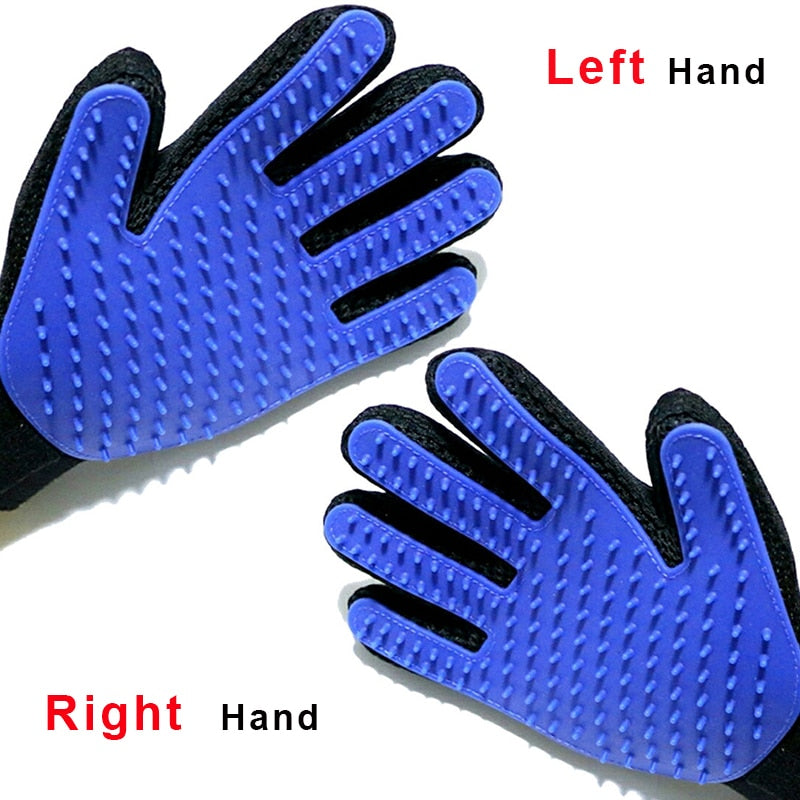 Silicone Bath Brush,Gentle Efficient Massage Grooming For Animal Washing Glove hair Pet Finger