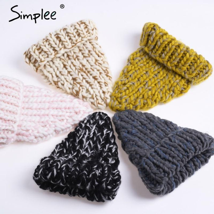 Knitted Bubble Wool Hat - Color 5