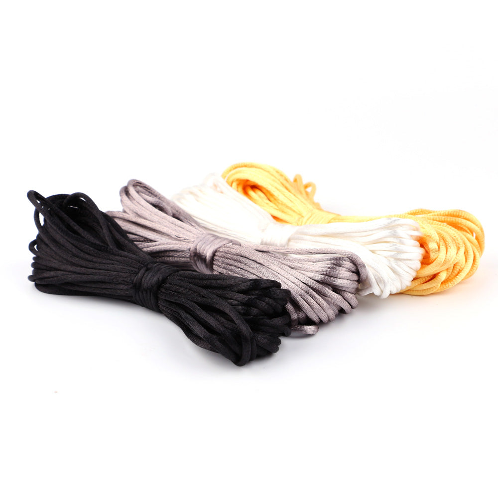10m Satin Silk Rope 2mm Nylon Cord for Baby Mom Jewelry Making Teething Necklace