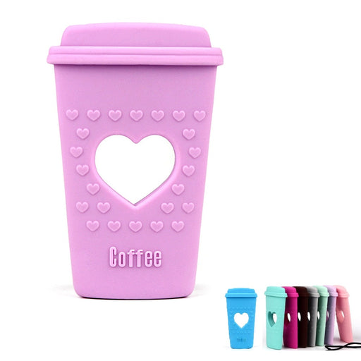 Coffee Cup Silicone Teether BPA Free Silicone
