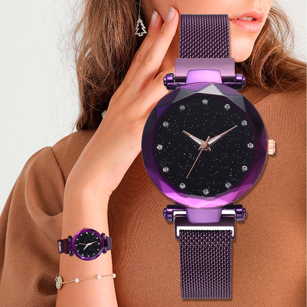 Mesh Magnet Buckle Watch