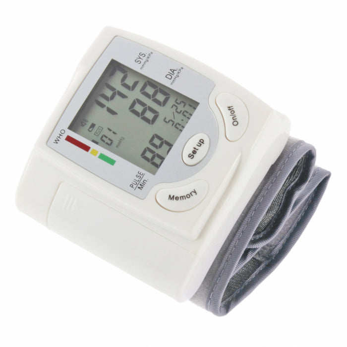 Blood Pressure Automatic Digital LCD Display Wrist Blood