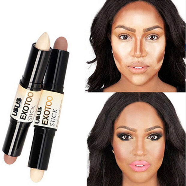 Double-ended Contour Stick Creamy Highlighter Bronzer Contour Palette